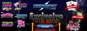 Thunderbolt Casino Bonuses and Promos