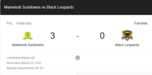 Mamelodi Sundowns vs Black Leopards match